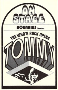 Tommy Playbill