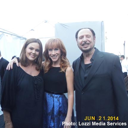 Belinda Carlisle, Kathy Griffin and Denny Randell