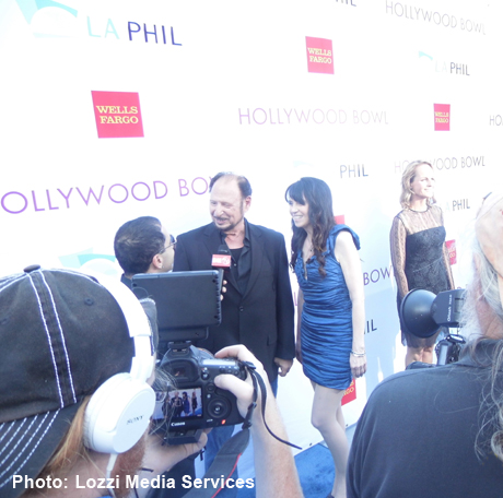Denny Randell, Biddy Schippers and Helen Hunt on Hollywood Bowl Blue Carpet