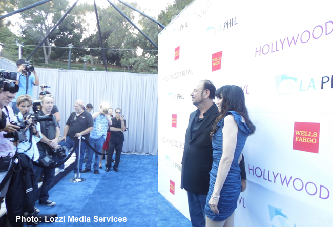 Denny Randell & Biddy Schippers on the 2014 Hollywood Bowl Blue Carpet