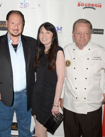 Denny Randell and Biddy Schippers with Chef Kurt Ehrlich at Bourbon DTLA opening